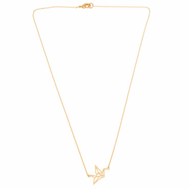 TIMI - CRANE ORIGAMI THIN NECKLACE - GOLD