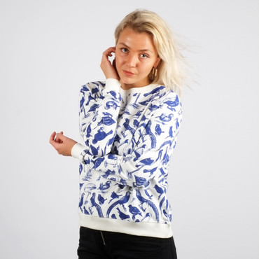 DEDICATED - YSTAD BLUE BIRDS SWEATSHIRT - OFF-WHITE