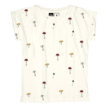 DEDICATED - VISBY MUSHROOMS T-SHIRT - OFF-WHITE