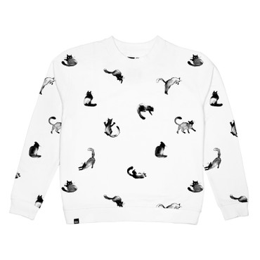 DEDICATED - YSTAD CATS SWEATSHIRT - WHITE