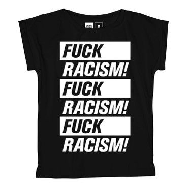 DEDICATED - VISBY FUCK RACISM T-SHIRT - BLACK