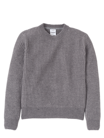 CLEPTOMANICX - WOMEN CREWNECK CAPI - HEATHER GRAY
