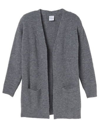 CLEPTOMANICX - WOMEN CARDIGAN - STAY COOL - HEATHER BLACK