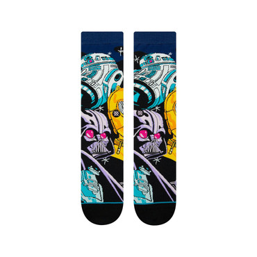 STANCE - STARWARS WARPED R2D2 SOCKS - BLACK