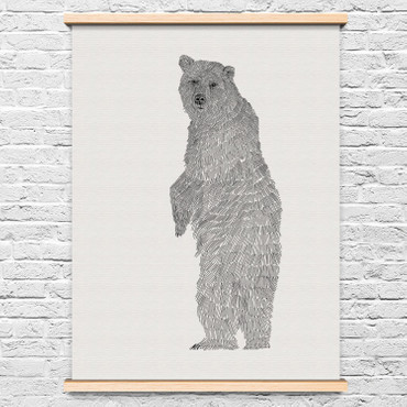"WILLU - ANNE WEIGEL ILLUSTRATION - ARTIST PRINT ""BÄR3"""