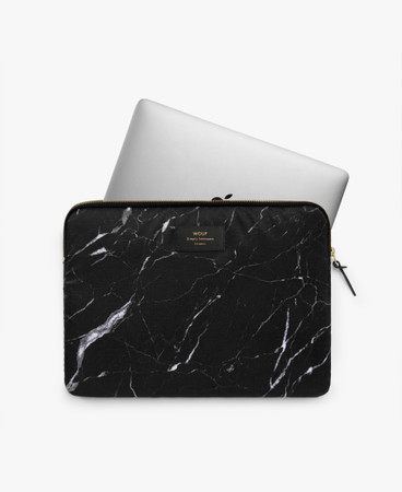 "WOUF - BLACK MARBLE 13"" LAPTOP SLEEVE"