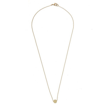 TIMI - BRUSHED CIRCLE NECKLACE - GOLD