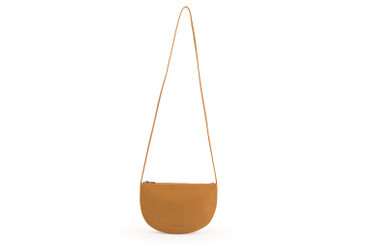 MONK & ANNA - FAROU HALF MOON BAG - CARAMEL FUDGE
