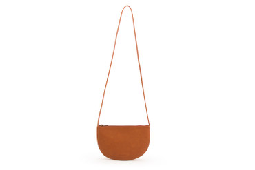 MONK & ANNA - FAROU HALF MOON BAG - BRICK RED