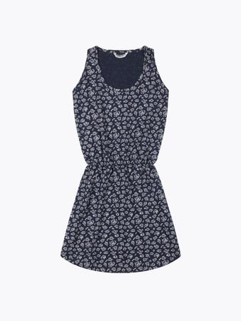 WEMOTO - NEW TAVI PRINTED DRESS - NAVY BLUE-OFF WHITE