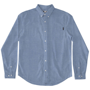DEDICATED - VARBERG CHAMBRAY SHIRT - BLUE