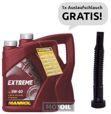 10 liter 2 x 5 liter mannol extreme 5w 40 leichtlauf. Black Bedroom Furniture Sets. Home Design Ideas