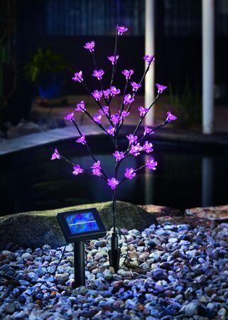 Solar LED Blütenstrauch pink  – Bild 2