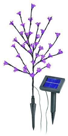 Solar LED Blütenstrauch pink  – Bild 1