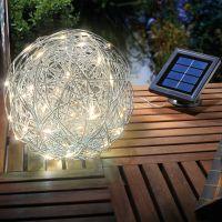 Solar LED ALU Wireball, 10000 K – Bild 2