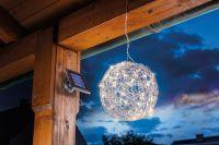 Solar LED ALU Wireball, 10000 K – Bild 4