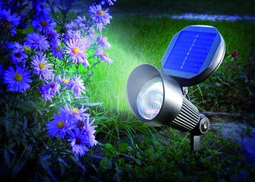 Solar LED Spotlight kaltweiss 6000 K      – Bild 2