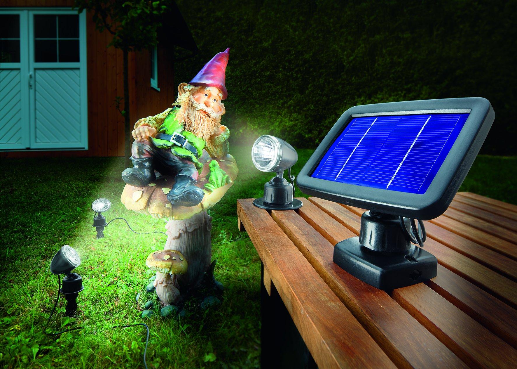 LED Solarspot Trio kaltweiss 6000 K