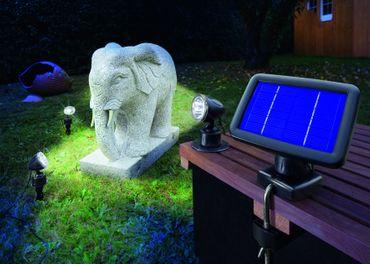 LED Solarspot Trio kaltweiss 6000 K      – Bild 3