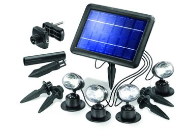 LED Solarspot Quattro Power kaltweiss 6000 K      – Bild 1