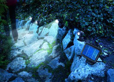 LED Solarspot Trio PIR kaltweiss 6000 K      – Bild 2