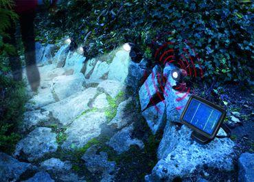 LED Solarspot Trio PIR kaltweiss 6000 K      – Bild 3