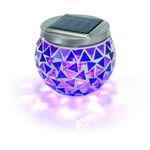 Solar Mosaik-Tischleuchte brilliant-lila 5000 K    001
