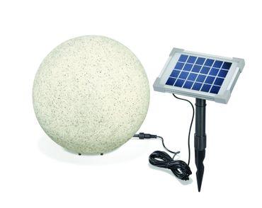Solar Leuchtkugel Mega Stone 30 Steinoptik Granit      – Bild 2
