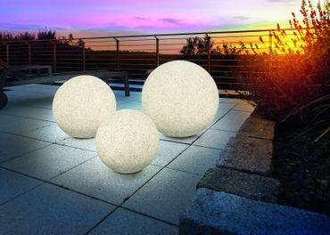 Solar Leuchtkugel Mega Stone 30 Steinoptik Granit      – Bild 5