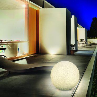 Solar Leuchtkugel Mega Stone 50 Steinoptik Granit       – Bild 3