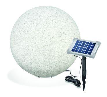 Solar Leuchtkugel Mega Stone 50 Steinoptik Granit