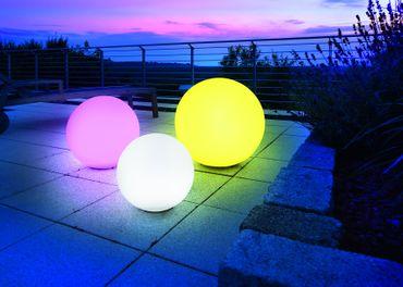 Solar Leuchtkugel Mega Ball 30 matte Glasoptik    – Bild 4