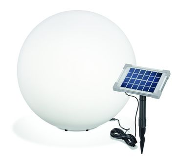 Solar Leuchtkugel Mega Ball 50 matte Glasoptik    – Bild 1