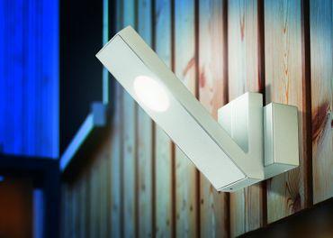 LED Doppel-Wandleuchte V-LINE weißes Gehäuse 6000 K    – Bild 3