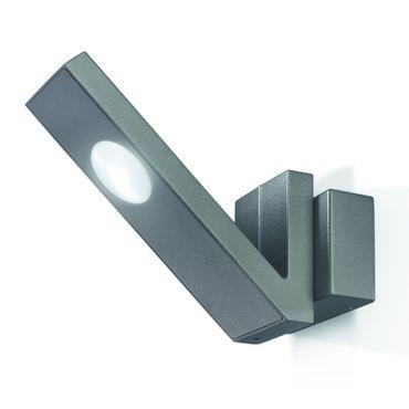LED Doppel-Wandleuchte V-LINE anthrazit Gehäuse 6000 K    – Bild 1