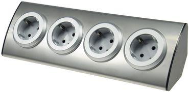 4-fach Steckdosenblock Edelstahl 90° für Eck- & Aufbaumontage – Bild 6
