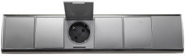 4-fach Edelstahl Steckdosenblock mit Schutzkontakt-Steckdosen I 2x USB I Schutzdeckel I 230V I Innen vorverdrahtet – Bild 7