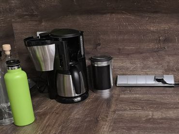 4-fach Edelstahl Steckdosenblock mit Schutzkontakt-Steckdosen I 2x USB I Schutzdeckel I 230V I Innen vorverdrahtet – Bild 10