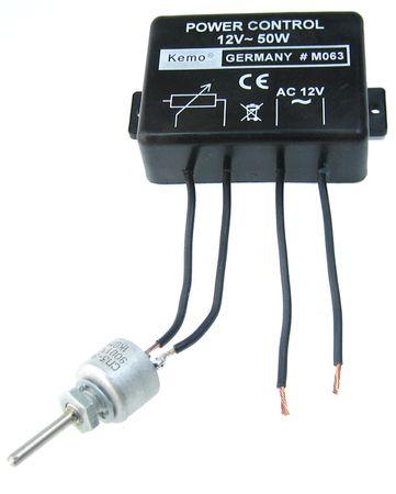 Dimmer 12 V/AC, 50 W (oder 24 - 48 V/AC)
