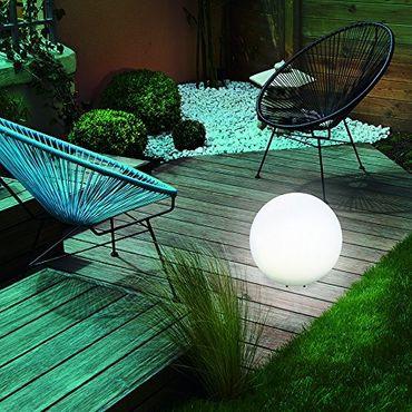 BUVTEC 2er Set Solar Leuchtkugel 30 und 20 cm Solarkugel Gartenleuchte Solarlampe – Bild 3