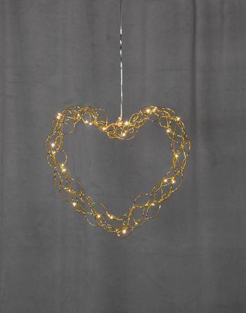 "LED-Dekoherz ""Curly"", ca.30 cm – Bild 2"