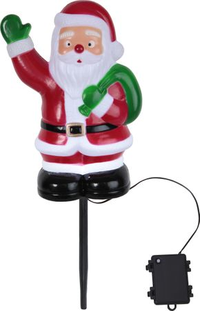 "LED-Steckfigur ""Santa on Stick"", 28 x 18cm, bunt – Bild 1"