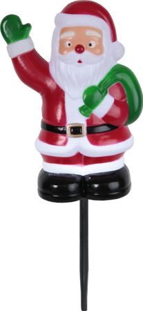 "LED-Steckfigur ""Santa on Stick"", 28 x 18cm, bunt – Bild 2"
