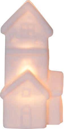 "LED-Häuser ""Polly"", 2er Set, weiss – Bild 2"