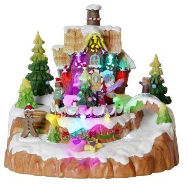 "LED-Weihnachtszene ""Gingerbread House"" – Bild 1"