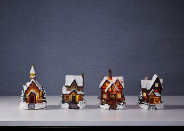 "Display LED-Häuser ""Smallville"", bunt, 12tlg – Bild 2"