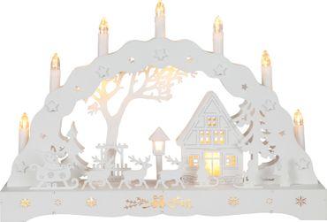 "LED-Fensterleuchter ""Schneehausen"", 12 LED – Bild 1"