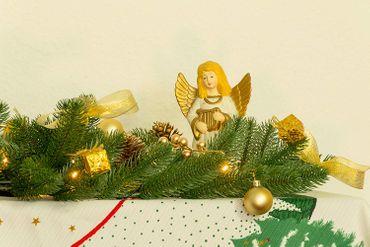 LED Girlande mit Dekoration, gold, 40 ww LED, ca.