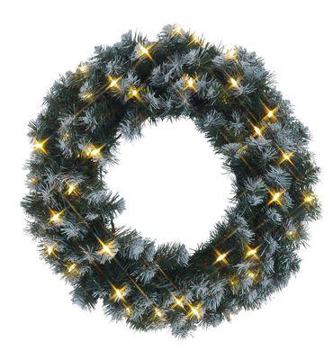 LED-Tannenkranz mit Schneedekor, beleuchtet – Bild 1