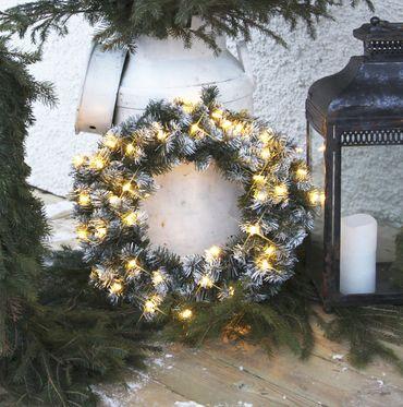 LED-Tannenkranz mit Schneedekor, beleuchtet – Bild 4